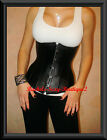 FAUX LEATHER CORSET UNDERBUST LACE UP BACK CINCHER Fast Ship from NEW YORK S-2XL
