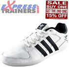 Adidas Originals Mens Plimcana 2.0 Low Casual Leather Trainers White *AUTHENTIC*