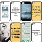One Direction Beach Quote Hard Plastic Back Case Cover For iPhone 4/4S 5/5S 5C