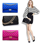 Women Shoulder Handbag Gold Chain Leather Cross Body Quilted Bags Baguette NL
