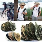 New Men Army Camo Hunting Fishing Hiking Outdoor Cap Bucket Boonie Sun Hat Mesh