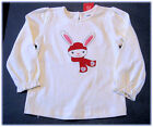 Gymboree Alpine Sweetie Ivory Snow Bunny Long Sleeve Top Size 3T 4T New NWT