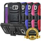Hybrid Dual Layer Shockproof Holster Case Cover Stand For Samsung Galaxy Note 5