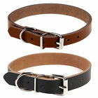 Real Cow Leather Pet Dog Cat Puppy Collar Neck Buckle Adjustable