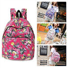 Girl's Vintage Canvas Backpack Travel Rucksack Floral Printed School Book Bags
