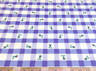 Discount Fabric Quilting Cotton Light Blue Plaid Floral 029CT