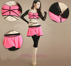 New Belly Dance Costume 3 Pics Set of Shrug Arm Gloves+Top Bra&Pantskirt 4 color