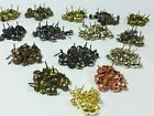 DECORATIVE UPHOLSTERY NAILS / TACKS / PINS / STUDS (27 Colour / Finishes)