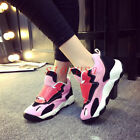 Womens New Velcro Sneakers Contrast Color Athleic Ladies Comfort Sports Shoes Sz