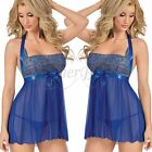 PLUS SIZE M-4XL Lace Women Lingerie Nightwear Teddy Underwear Babydoll +G-string