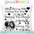 ❤personalised Photo Love Cushion Valentines Anniversary Wedding Birthday Gift❤