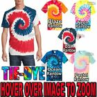 NEWEST Designs! Mens Tie Dye T-Shirt Rainbow Spirals S-XL 2XL 3XL 4XL Tye Died image
