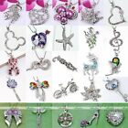 Silver Plated Crystal Cross Wing Plam Pendant Charms Bead Fit Chain Necklace DIY