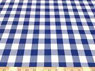 Discount Fabric Tablecloth Fabric Blue and White Check 26DR