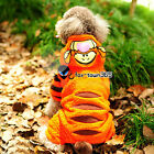 Autumn Winter Pets Puppy Dogs Cosplay Fleece Jumper Tiger Clothes Coat Hooded