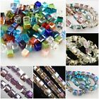 Wholesale 50pcs Charms Cube Glass Crystal Rondelle Spacer Beads Findings 6x6mm