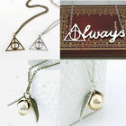 Occident Fashion Harry Potter Metal Charm Talisman Pendant Necklace Chain Gifts