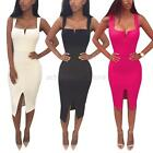 Sexy Women's Summer Bandage Slim Bodycon Evening Party Cocktail Club Midi Dress