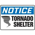 NS Signs Notice Tornado Shelter Graphic OSHA Safety Sign
