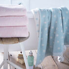 Catherine Lansfield Home Polka Dot 100% Cotton Jacquard Bath Sheet