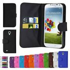 Luxury New Leather Flip Wallet Slim Case Cover For Samsung Galaxy S4 i9500