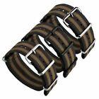 NATO Genuine Vintage Bond Stripe Nylon G10 NATO Military Watch Strap 18 20 22mm