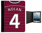 WEST HAM themed CASE COVER STAND fits IPAD + Air Mini PERSONALISED shirt style