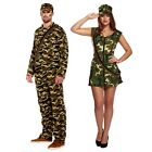Fancy Dress Up Costume for Adult Sexy Army Men Women Camouflage Soldier