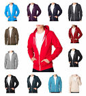 Soul Star Slim Full Zip Hooded Top Fleece Sweatshirt Hoodie All Colours & Sizes