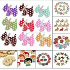 50/100 Mixed Wooden Buttons Craft Sewing Scrapbooking Cardmaking Butterfly Holes