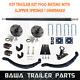 Single Axle Trailer Kit 1400kg Rating with Slipper Springs! UNBRAKED