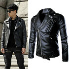 2015 new men's motorcycles leather jacket trench coat winter outwear windbreaker