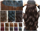 3/4 Full Head Thick Soft Straight Wavy Clip in Hair Extensions All Colours
