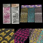 DIY Glitter Crystals Alphabet Letter Stickers Decal Self Adhesive A-Z Stick On