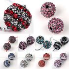 5X Crystal Spacer Disco Ball Loose Bead Charm Jewelry Finding Bracelet DIY Gift