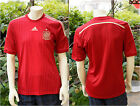 NEW 2015 Adidas $90 Authentic Men's Spain Home Soccer Jersey S M Red FEF H JSEY