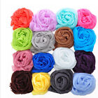 Candy Color Girl  Long Soft Silk Chiffon Scarf Wrap Shawl Scarve Deluxe EWUK