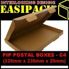 Cardboard Postal Mail Boxes PIP (Large Letter) 320x230x20mm - C4 - MULTI LISTING
