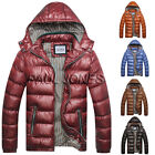 Mens Winter Down Jacket Coat Hooded Puffer Puffa Hoodie Padded Quilted Outerwear