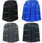 NEW GIRLS SCHOOL UNIFORM ELASTICATED BOX PLEAT SKIRT GREY BLACK NAVY ROYAL 2-16