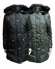 NEW GIRLS FISHTAIL MILITARY PARKA FUR HOODED WINTER PADDED JACKET COAT 9-13YRS