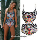 sw65 CFLB Trendy Aztec Print Ladies One Piece Swimwear Padded Monokini Swimsuit