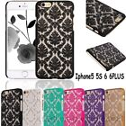 Rubberized Damask Vintage Pattern Matte Hard Case Cover For iPhone6 6+ 5 5S