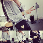 New Hot Vogue Women's Loose Geometry Pullover T-Shirt Long Sleeves Tops Blouse