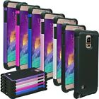 Samsung Galaxy Note 4 ShockProof Tough Heavy Duty Hybrid Case Cover, USPS Ship