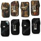 Rugged Canvas Pouch Holster Belt Clip FOR Large Cell Phones To Fit Rubber Case