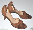"""Franco Sarto Pumps 3"""" shoes heels Brazil Leather Suede Brown bows 7.5 7 1/2"""