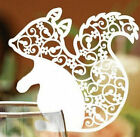 Pearlescent Squirrel wedding favor mark wine glass cards table name card laser