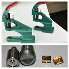 Hand Press Machine + Square Pyramid Studs Tool Die Set Kit - Multiple Size & Use