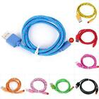 1pcs 3ft (1m) Color Nylon Braided USB Data Charger Cable iOS8 for iPhone 5 5S 5C